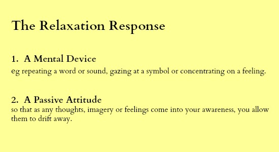 The Relaxation Response 2